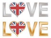 wielka Britain miłość Fotografia Royalty Free