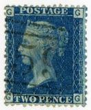 Wielka Brytania odwoływająca znaczek 1869 królowa Wiktoria Fotografia Royalty Free