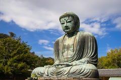 Wielka Buddha statua Daibutsu w Kamakura, Japonia Obraz Stock