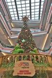 wielka choinka przy centrum handlowym Fotografia Royalty Free