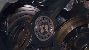 Wielka część podwozie ciężarówka makro- zdjęcie wideo