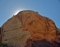 Wielka czerwień kamienia twarz Fotografia Royalty Free