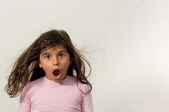 Wielka dziewczyna zaskakująca Obraz Stock