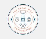 Wielka dzika eksploracja ilustracja wektor