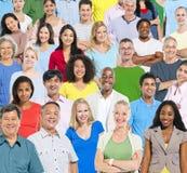Wielka grupa ludzi z Colourful Zdjęcie Royalty Free