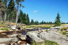 Wielka Izera meadows and river Royalty Free Stock Photo