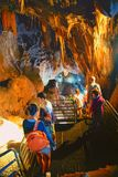Wielka jama, Grotta di Su Mannau, Fluminimaggiore, Sardinia Zdjęcia Stock