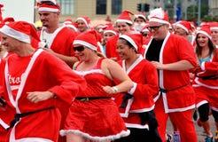 Wielka KidsCan Santa bieg Auckland centrala Zdjęcie Stock