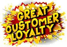 Wielka klient lojalność - komiksu stylu słowa ilustracja wektor