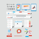Wielka kolekcja sieci grafika zdjęcia stock
