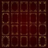 Wielka kolekcja złotego rocznika kaligraficzne ramy - wektoru set Zdjęcie Stock