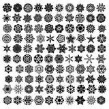 Wielka kolekcja z symetrycznymi ornamentami lub mandalas Zdjęcia Royalty Free