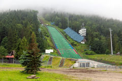 Wielka Krokiew跳台滑雪的竞技场在扎科帕内 免版税库存照片