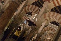 Wielka Meczetowa katedra cordoby wnętrze fotografia stock