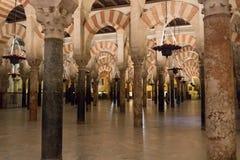 Wielka Meczetowa katedra cordoby wnętrze fotografia royalty free