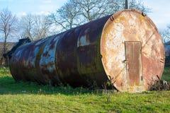 Wielka metal baryłka Zdjęcie Stock