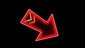 Wielka Neonowa Strzałkowata pętla zbiory wideo
