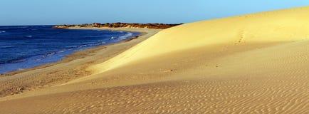 Wielka panorama Australijski nabrzeżny krajobraz - Broome fotografia royalty free