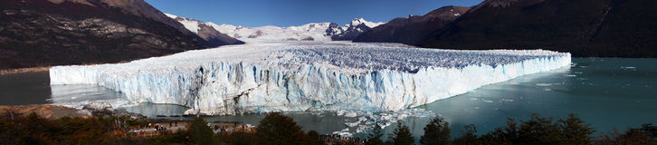Wielka panorama Perito Moreno lodowiec Zdjęcia Stock