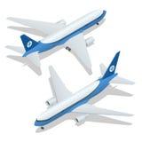 Wielka pasażerska samolotu 3d isometric ilustracja Samolotowi zafrachtowania Płaski 3d wektorowy isometric wysokiej jakości trans Obraz Stock