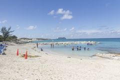 Wielka pocięgla Cay plaża Obraz Royalty Free