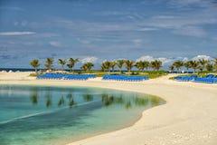 Wielka pocięgla Cay plaża Fotografia Stock