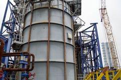 Wielka pojemność dla petrochemicznego przemysłu 2011 substancja chemiczna może Odessa roślina Ukraine O obrazy royalty free