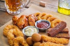 Wielka porcja przekąska dla piwa Zdjęcia Stock