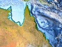 Wielka Rafowa bariera na ziemi - widoczna ocean podłoga Zdjęcia Stock