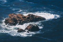 Wielka rockowa formacja Cabo da Roca, Cascais, Portugalia fotografia stock