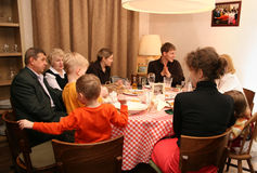 wielka rodzina Obraz Royalty Free