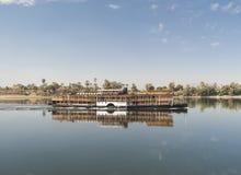 Wielka rzeczna rejs łódź na Nil Zdjęcie Stock
