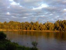 Wielka rzeka w lecie Zdjęcie Stock