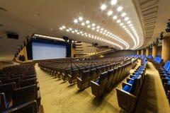 Wielka sala dla prezentacj przy Kremlowskim pałac zdjęcia stock