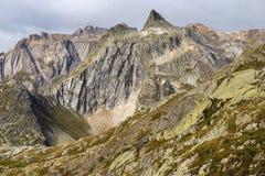 Wielka St Bernard przepustka w Szwajcaria Fotografia Stock
