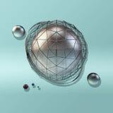 Wielka stalowa sfera Obraz Royalty Free