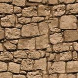 Wielka szorstka naturalna kamienna ściana - bezszwowa tekstura dla projekta Obrazy Royalty Free