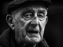 Wielka twarz stary człowiek bardzo Zdjęcia Royalty Free