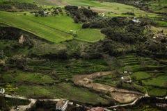 Wielka ucieczka niebo Widok z lotu ptaka Ronda ` s pola fotografia stock