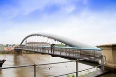 Wielka woda na Vistula rzece W Krakowskim Fotografia Royalty Free