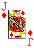 Wielka wskaźnika karta do gry dźwigarka diamenty obrazy stock