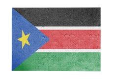 Wielka wyrzynarki łamigłówka 1000 kawałków - Południowy Sudan Obrazy Stock