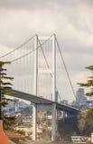Wielka zawieszenie mosta poparcia struktura fotografia stock