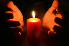 Wielkanoc candle Obrazy Royalty Free