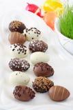Wielkanoc czekoladowe jaja Obrazy Stock