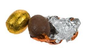Wielkanoc czekoladowe jaja Zdjęcia Stock