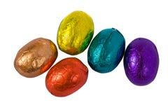 Wielkanoc czekoladowe jaja odizolowane Zdjęcie Stock