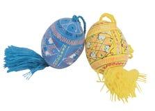 Wielkanoc dwa jajko kolorów jajka Obrazy Royalty Free