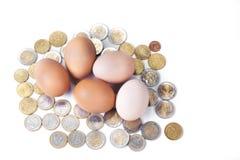 Wielkanoc, gospodarstwo rolne, Easter jajko, świeżość, łamliwość, składnik, zwierzęcy jajko, jedzenie, brąz, odizolowywający, jaj Zdjęcie Stock