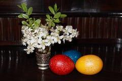wielkanoc jaj kwiaty Zdjęcia Royalty Free